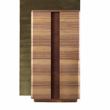 Moderní masivní dřevěné postele Grilli York vyrobené v Itálii