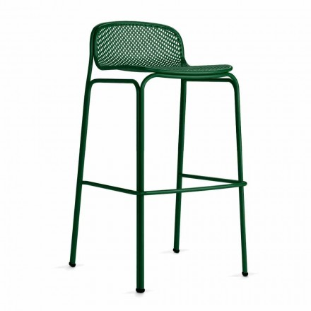 Vysoce stohovatelné venkovní barové stoličky z kovu, 2 kusy - Viviette