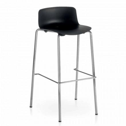 Vysoká stolička z kovu a polypropylenu Vyrobeno v Itálii, 2 kusy - Christabel