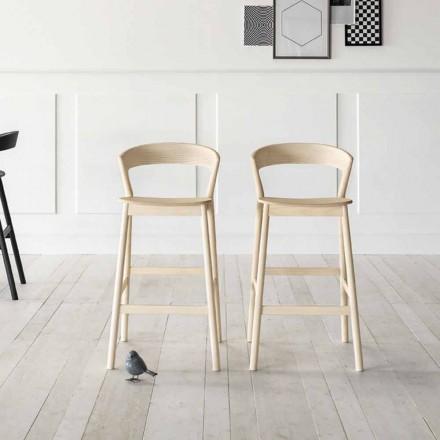 Vysoce kvalitní kuchyňská stolička se strukturou jasanového dřeva vyrobená v Itálii - Oslo