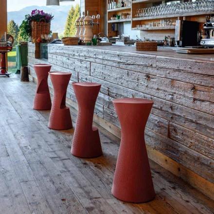 Vysoká zahradní stolička z barevného polyethylenu vyrobená v Itálii - Desmond