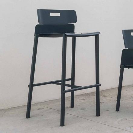 Vysoce kvalitní stolička pro venkovní použití v hliníku Vyrobeno v Itálii - Dobla