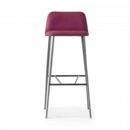 Vysoce kvalitní kožená stolička s kovovým podstavcem vyrobená v Itálii - Molde