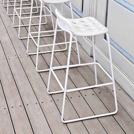 Vysoce designová stolička v bílém plastu pro kuchyň 2 kusy - čipy od Myyour
