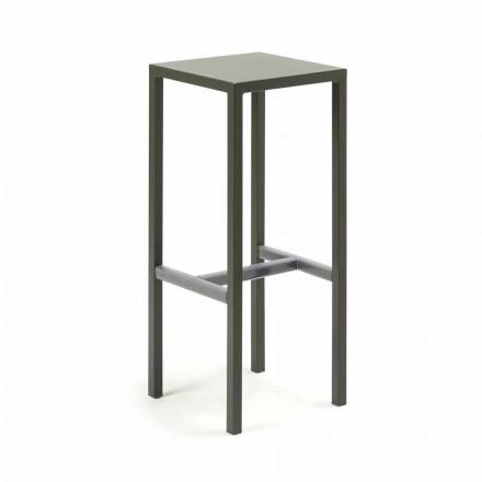 Venkovní barová stolička z práškově lakovaného kovu vyrobená v Itálii - Meone