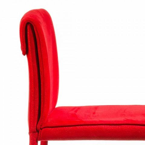 Moderní designová barová stolička Amos, ručně vyráběná v Itálii
