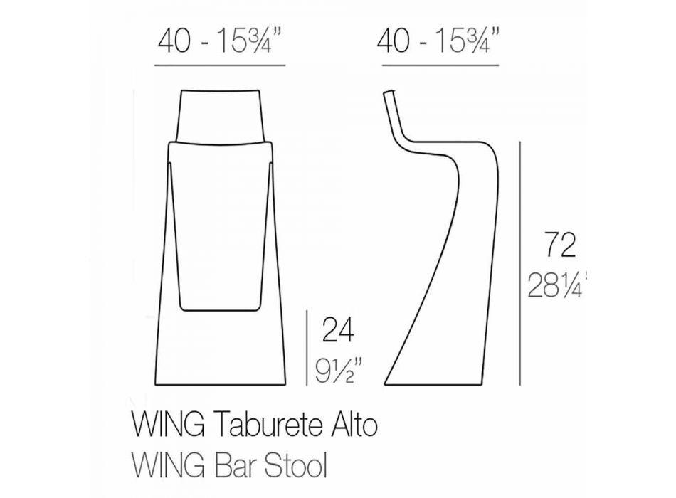 Moderní designová barová stolička Wing Vondom z polyethylenu