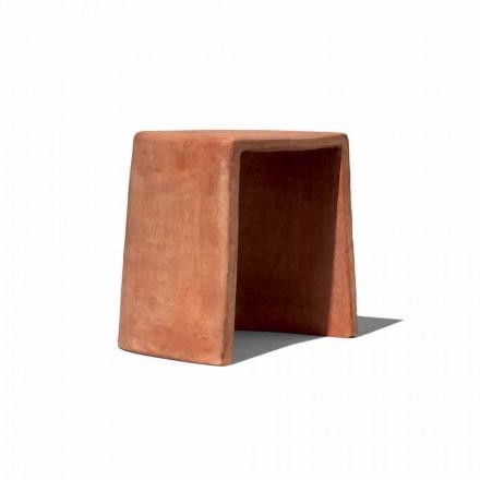 Nízká stolička pro venkovní ručně vyráběnou terakotu Vyrobeno v Itálii - Julio