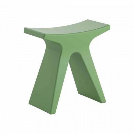 Nízká designová venkovní stolička z polypropylenu Vyrobeno v Itálii - Prue