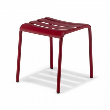 Nízká stolička ve venkovním lakovaném hliníku Vyrobeno v Itálii - Sondra