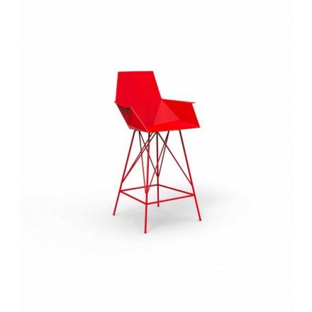 Moderní stolička s područkami Faz by Vondom, z polypropylenu, 4 kusy