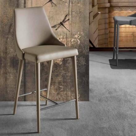Moderní designová stolička s opěradlem a kovovou základnou - Berenice