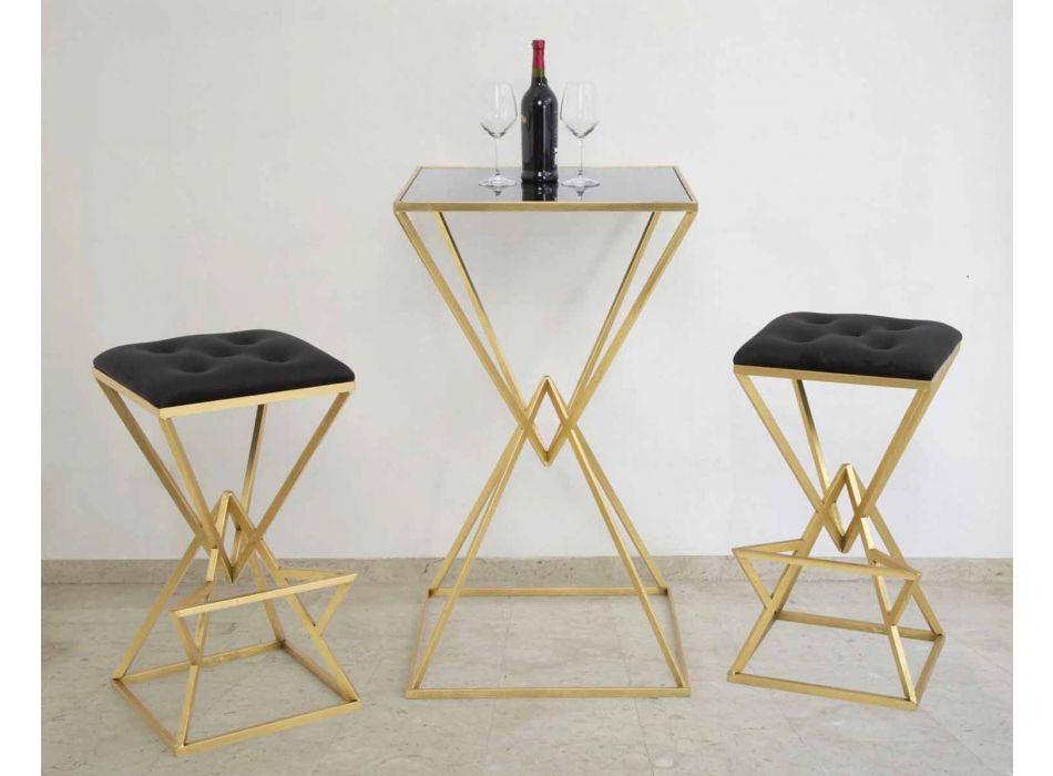 High Square Design Barová stolička ze železa a tkaniny - Sillie