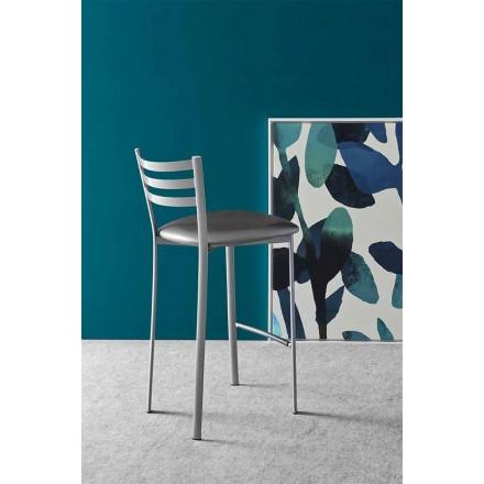 Moderní kovová nebo tkaninová kuchyňská nebo barová stolička Made in Italy - Ace