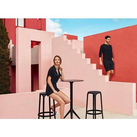 Barová stolička Brooklyn by Vondom, v polypropylenu se skleněným vláknem, 4 kusy