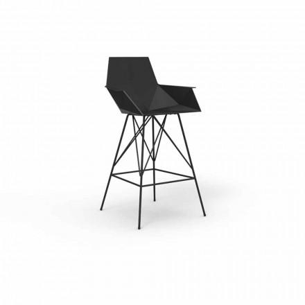 Stolička s područkami Faz by Vondom z polypropylenu a nerezové oceli