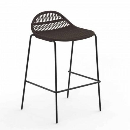 Stohovatelná venkovní stolička z hliníku a tkaniny - Panama od společnosti Talenti