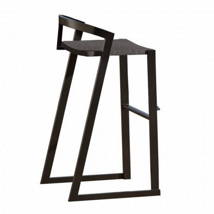 Venkovní designová stolička z vysoce kvalitního hliníku, 3 kusy - Filomena