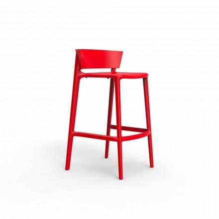 Moderní venkovní stolička Africa Vondom, v polypropylenu se skleněným vláknem, 4 kusy