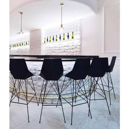 Moderní stolička Faz by Vondom, z polypropylenu a nerezové oceli