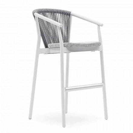 Stohovatelná zahradní stolička z hliníku a technické tkaniny - inteligentní od společnosti Varaschin