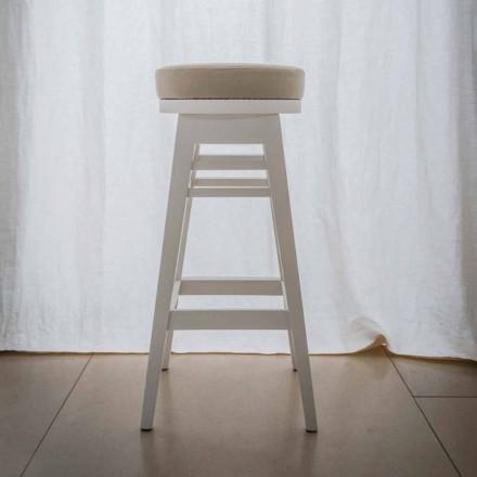 Designová židle z lakovaného bukového dřeva H 78 cm, Harvey