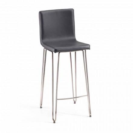 Designová stolička s vysokým podkladem Carlo, H 97 cm, vyrobená v Itálii