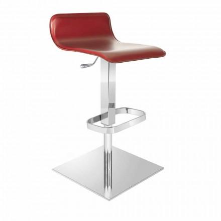 Designová stolička s nastavitelným sedákem a chromovou základnou Inigo