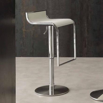 Moderní designová stolička, potažená ekologickou kůží - Arbore