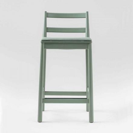 Luxusní stolička z bukového masivu se sedákem z látky vyrobené v Itálii - Nora