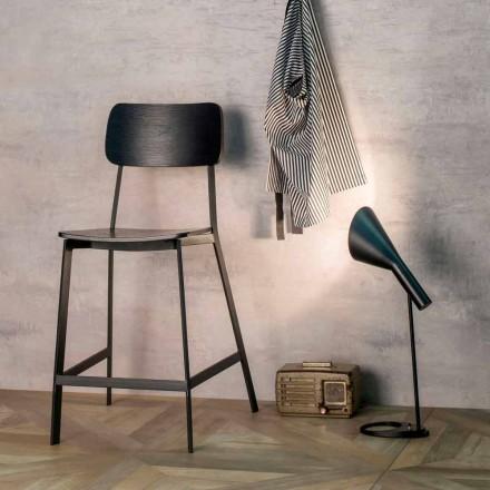 Moderní designová stolička Elmas H 97 cm, vyrobená ze dřeva a kovu