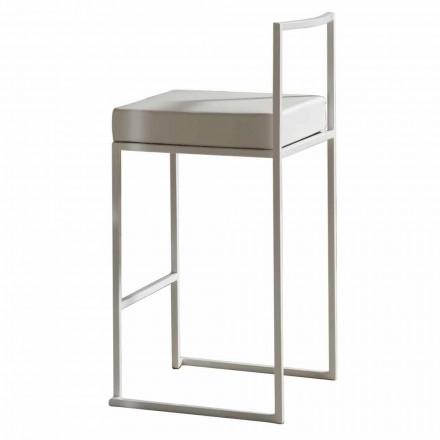 Eko-kožená pevná stolička, moderní design H 65 cm - Alina
