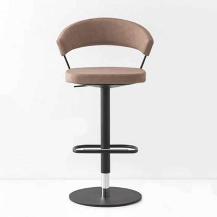 Otočná stolička Čalouněná Vintage umělá kůže a kov Vyrobeno v Itálii - New York
