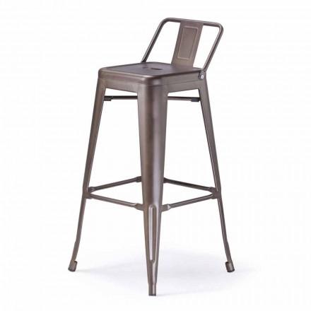 Kovová stolička H 74 cm, průmyslový design - Giuditta