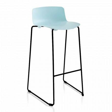 Stohovatelná stolička z kovu a polypropylenu Vyrobeno v Itálii, 2 kusy - Charla
