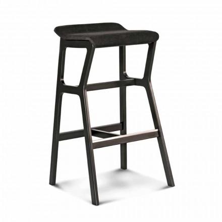 Masivní buková stolička se sedákem v látce vyrobené v Itálii - Řezno