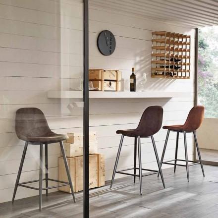 Stolička v koženém a kov moderní konstrukční Gino