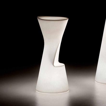 Světelná venkovní stolička z polyethylenu s LED diodou Made in Italy - Desmond
