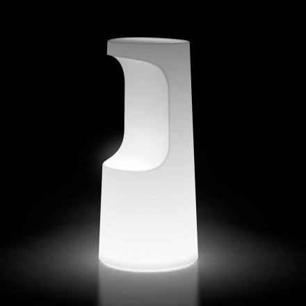 Světelná venkovní stolička z polyethylenu s LED světlem vyrobená v Itálii - Forlina