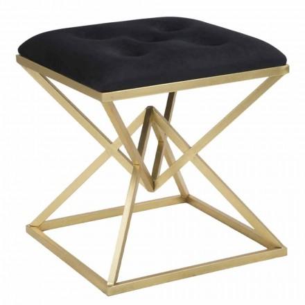Čtvercová moderní designová stolička ze železa a tkaniny - želé