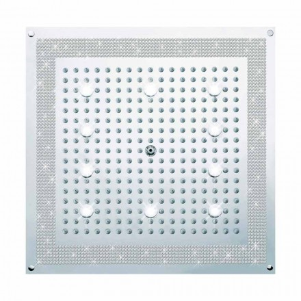 Sprchová hlavice s LED světly a dekoracemi v Swarovski Bossini Dream