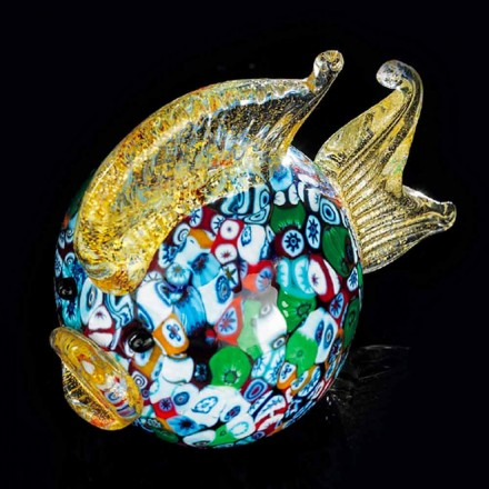 Puffer Fish Shapeed Ornament in Murano Glass Made Italy - Fatimo