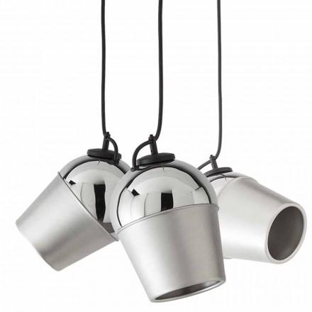 Závěs se třemi kovovými lampami Magnet - Toscot