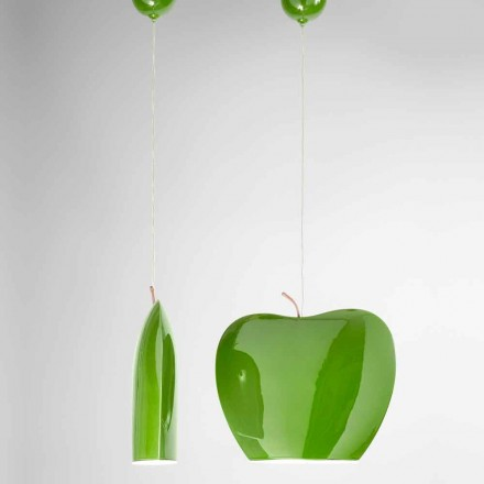 Pozastavení keramiky designu ve tvaru Apple - Ovoce Aldo Bernardi
