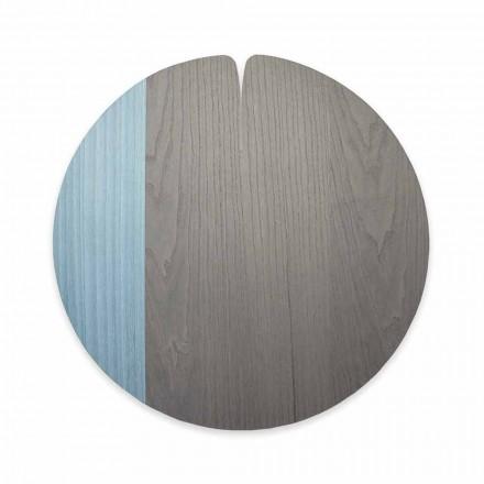 Moderní tablemat vyrobený v Itálii v přírodním pravém dřevě, 4 kusy - Stan