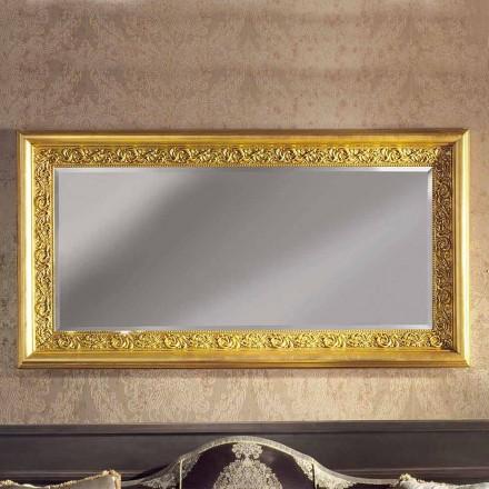 Moderní ručně vyráběné dřevěné nástěnné zrcadlo vyrobené v Itálii Enrico