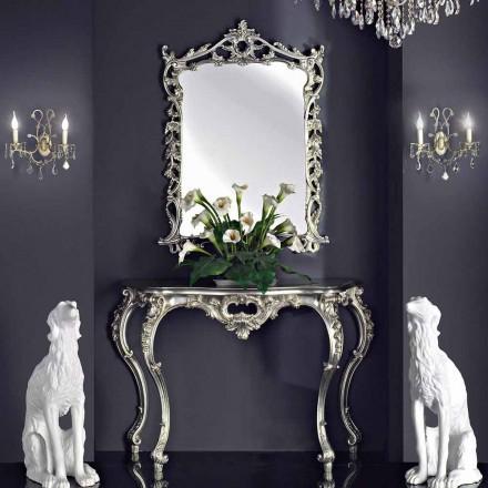 Nástěnné zrcadlo, dřevěná konzole a ručně vyráběný klavír v Itálii Giacomo