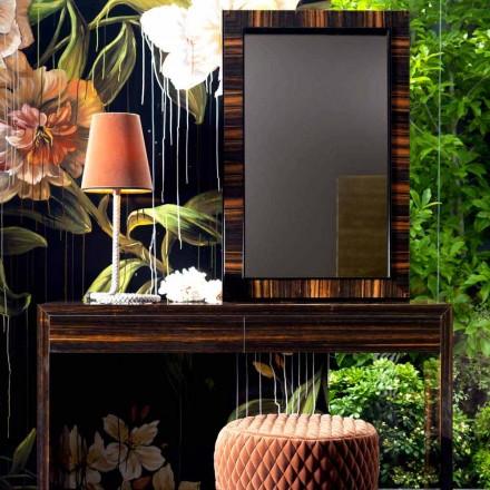 Nástěnné zrcadlo / ebenové dřevo Grilli Zarafa vyrobené v Itálii