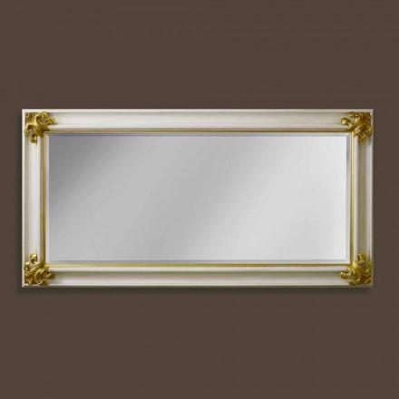 Moderní design ručně vyráběné dřevěné nástěnné zrcadlo vyrobené v Itálii Stefano