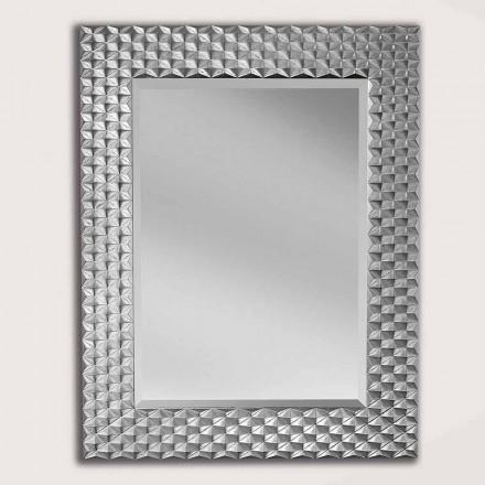 Nástěnné zrcadlo ze stříbra nebo zlata vyrobené v Itálii Giuseppe